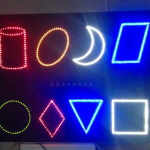 Панель «Цветные фигуры» 2