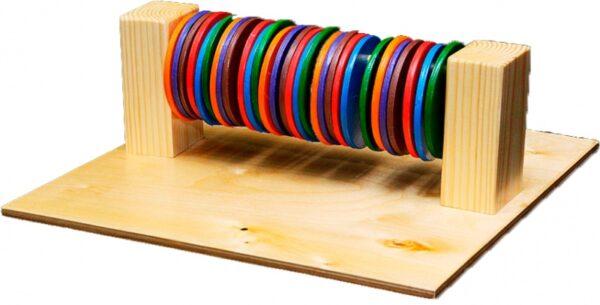 Тактильно-развивающая панель «Цветные круги»