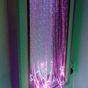 Безопасное настенное зеркало с у/ф подсветкой и светящимися нитями «Магический свет»
