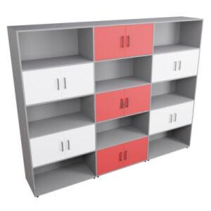 Шкаф многосекционный полуоткрытый