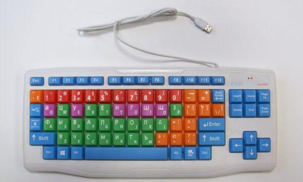 Адаптированная клавиатура для компьютера с увеличенными клавишами