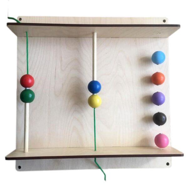 """Тактильно-развивающая панель """"Магнитные шарики"""""""