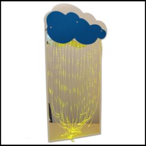 Зеркальное панно с фибероптическими волокнами «Тучка»